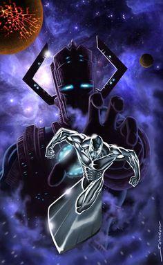 Silver Surfer & Galactus by Jim Steranko