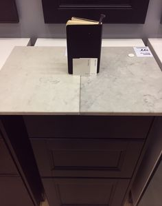 Caesarstone countertop options at IKEA! London Grey vs Nobel Grey with laxarby cabinets. Whole post at the blog!