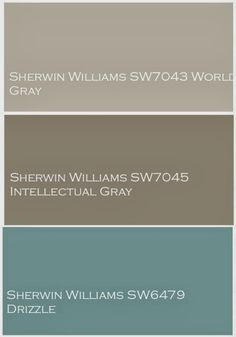 The Yellow Cape Cod: Whole House Design Project~Linen, Gray and Turquoise. Exterior colors - minus the Drizzle color House Paint Exterior, Exterior Paint Colors, Exterior House Colors, Paint Colors For Home, Paint Colours, Exterior Design, Exterior Paint Combinations, Stucco Exterior, Front Door Colors