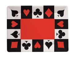 Card Night Plastic Tray Large | Wally's Party Factory #casino #tray