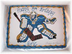 Image result for goalie hockey cake