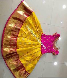 Baby skirts south india Kids Party Wear Dresses, Kids Dress Wear, Kids Gown, Dresses Kids Girl, Kids Lehanga Design, Lehanga For Kids, Kids Frocks Design, Kids Indian Wear, Kids Ethnic Wear