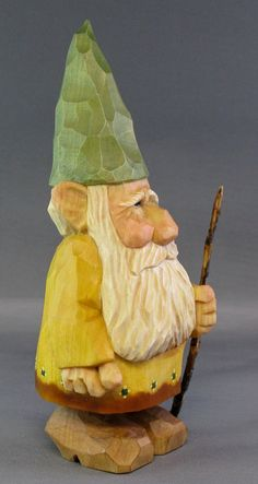 Gnome woodcarving elf Scandinavian Norwegian wood by cjsolberg