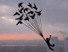 kid baloon birds fly sky paper http://revistapegn.globo.com/Revista/Common/1,,EMI318844-17180,00.html