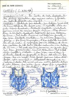 Cosset de Tórtola Valencia MAE: I 372 Registre 253014 Tipologia: Col·lecció Indumentària Espectacle: Desconegut; Tórtola Valencia (Actor/Actriu) Escena Digital: http://colleccions.cdmae.cat/catalog/bdam:253014