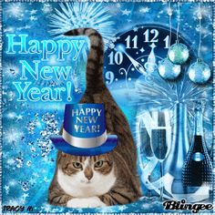 10 New Year 2020 Quotes And Sayings Happy New Year Dog, Happy New Year Images, Happy New Year 2020, Christmas Cats, All Things Christmas, Happy New Year Animation, New Years Eve Fireworks, Holiday Gif, New Year Gif
