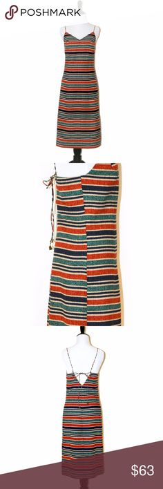 """NWT Anthro Moon River Midi Dress with Side Slits New with tag sample sale  size: S - Chest/Bust Measurement 33.5"""", Waist Measurement 26"""", Hips (8"""" from waist) 36.5"""" brand: Moon River(Anthropologie) color: Orange/Multi 100% Polyester; Lining: 100% Rayon Imported Hand Wash Midi dress Backless Anthropologie Dresses Midi"""