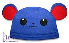 $30.00 - Pokemon Marill Hat by riomccarthy on Etsy  Handmade fleece hat designed and sewn by Rio McCarthy to resemble Marill from Pokémon for the 20th anniversary. #Pokemon20 #RiosRenditions #fleecehat #shopping