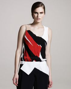 Abstract Crepe Top by Narciso Rodriguez at Neiman Marcus Last Call.