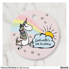 Unicorn Birthday Favor Tags #favor #tags #favortags #thankyoutags #ad #unicorn #birthday