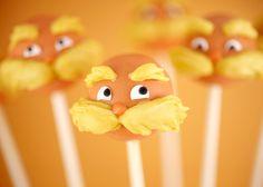 lorax cake pops!!! by Bakerella, via Flickr