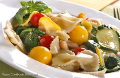 Vegan Summer Pasta with Red and Yellow Tomatoes from the cookbook Quick-Fix Vegan