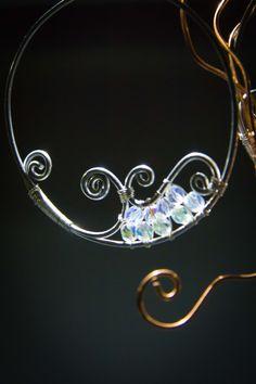 orecchini il alluminio..tecnica wire fatti a fano