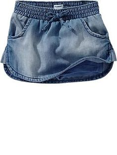 Bow-Tie Chambray Skorts for Baby | Old Navy
