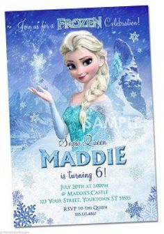 Personalized Disney Frozen party invitations