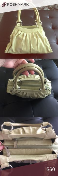 Hobo International light green leather handbag The color is like a pastel life green. Normal signs of light wear. Used but still in very good condition. Any questions please do ask. HOBO Bags Shoulder Bags