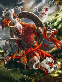 DeviantArt is the world's largest online social community for artists and art enthusiasts, allowing people to connect through the creation and sharing of art. Character Concept, Character Art, Concept Art, Fantasy Warrior, Fantasy Art, Oni Maske, Monkey King, Creature Design, Fantasy Creatures