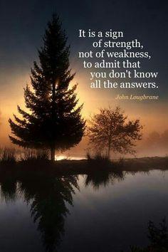 Strength, not weakness