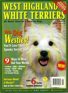 """""""WEST HIGHLAND WHITE TERRIERS"""" Magazine, Vol 36, LN. Informative magazine.  Bought at Petco"""