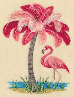 Machine Embroidery Patterns Machine Embroidery Designs at Embroidery Library! - New This Week Embroidery Software, Learn Embroidery, Machine Embroidery Patterns, Crewel Embroidery, Vintage Embroidery, New Embroidery Designs, Ribbon Embroidery, Flamingo Decor, Pink Flamingos