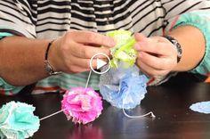 Inspired by Pinterest: Paper Doily Poms