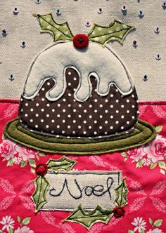 An embroidered and appliqued Christmas card by ZoeWrightTextiles, Ј7.95