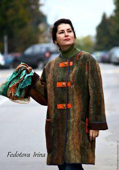 """Купить Авторское пальто """"Хамелеон"""".Коллекция """"Калейдоскоп"""". - комбинированный, абстрактный, пальто, авторская ручная работа"""