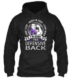 Defensive Back - Never Stop #DefensiveBack