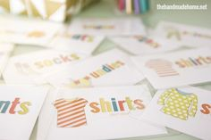 a labeling system that's bound to help when it comes to organizing kids' clothes around the home.