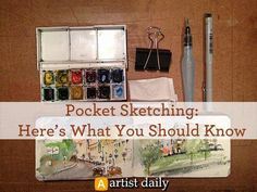 6 Must-Have Tools for Pocket Sketching | #pocketsketching #watercolor