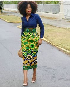 The Most Stylish Ankara Skirt Styles in Vogue African Fashion Skirts, African Fashion Designers, African Inspired Fashion, African Print Fashion, Africa Fashion, Ankara Fashion, Fashion Outfits, Fashion Ideas, African Print Skirt
