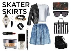"""SkaterSkirt"" by michelledhrm ❤ liked on Polyvore"