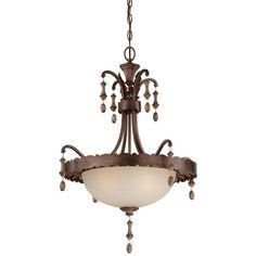 Minka Lavery 4123-563 1 Light Indoor Bowl Shaped Pendant from the Candlewood Col Rustique Patina Indoor Lighting Pendants