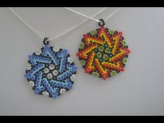 🌈 Huichol charm bead for attracting wealth. Handmade Beaded Jewelry, Beaded Jewelry Patterns, Beading Patterns, Seed Bead Necklace, Seed Bead Jewelry, Beading Projects, Beading Tutorials, Beaded Clutch, Earring Tutorial