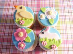 Easter cupcake topper quad2 dozen by AppleBlossomCupcakes on Etsy, $33.00