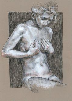 One of a kind original drawing - figure drawing Figure Sketching, Figure Drawing, Drawing Drawing, Drawing Faces, Life Drawing, Drawing Tips, Art Du Croquis, Human Anatomy Art, Art Et Illustration