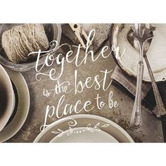 Photo Light Box Insert - Vintage Tableware - Together is the Best Place to Be – ChristianGiftsPlace.com Online Store