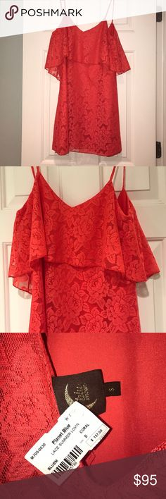 """Planet Blue - Blu Moon Coral Dress *NEVER WORN* Brand new Coral """"Lace Summer Lovin"""" Planet Blue - Blu Moon Dress Planet Blue / Blu Moon Dresses Mini"""