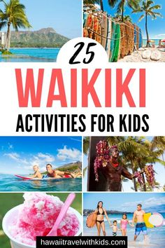 Are you planning a trip to Oahu with kids? Find out the best 25 Things to do in Waikiki with Kids on your next Hawaiian vacation. Find out the best places to eat in Waikiki, the best Waikiki activities, and the best Waikiki tours. | Hawaii Travel with Kids #waikiki #oahu #oahuwithkids
