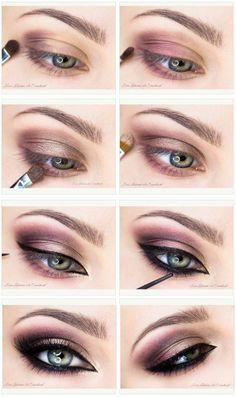Deep plum smoky eye. #tutorial