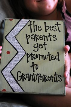 Best parents get promoted to grandparents card. great gift for when I start having kids!