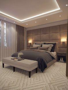 Modern Luxury Bedroom, Luxury Bedroom Design, Room Design Bedroom, Bedroom Furniture Design, Home Room Design, Luxurious Bedrooms, Home Decor Bedroom, Bedroom Ideas, Romantic Bedrooms