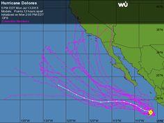 Hurricane Dolores : GFS Ensemble Computer Model Hurricane Forecasts | Weather Underground