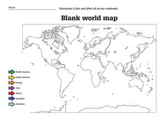Oceans And Continents Worksheet