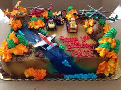 Planes Fire and Rescue birthday cake