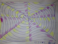 Wellenmuster - Filzschreiber und Farbstifte - Davud