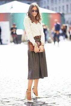 Tempting Trend: Midi Skirts - Olivia Palermo