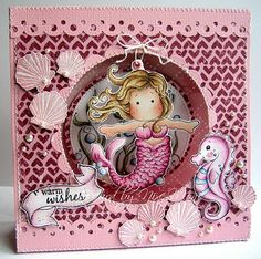 What a gorgeous undersea card!!!...all in pinks...