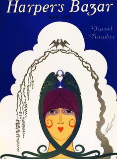 Harper's Bazar . Saul Bass, Art Nouveau, Erte Art, Pop Art, Vintage Vogue Covers, Art Deco Artists, Art Deco Illustration, Art Illustrations, Fashion Illustrations