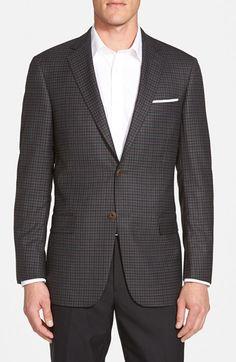 Hart Schaffner Marx 'New York' Classic Fit Check Wool Sport Coat
